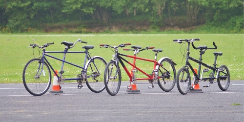 Two wheel tandem cycles