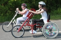 Hand Cycles being used